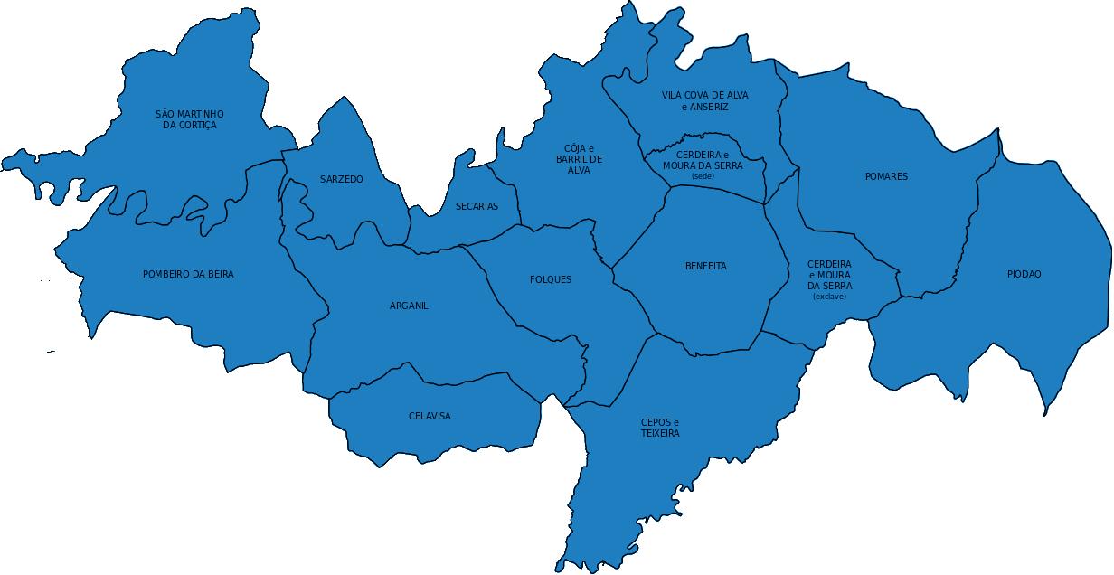 arganil mapa Concelho   Município de Arganil arganil mapa