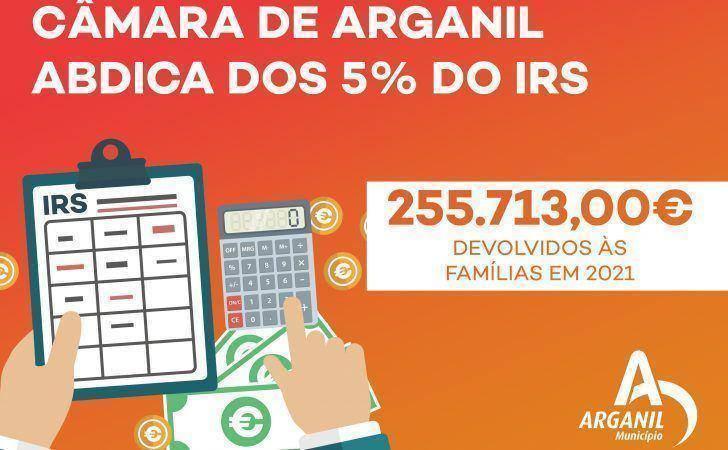 Município vai devolver mais de 255 mil euros às famílias ao abdicar dos 5% de IRS