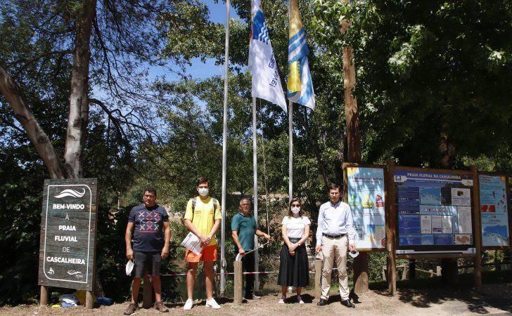 Hasteadas oito bandeiras nas cinco Praias Fluviais do concelho de Arganil